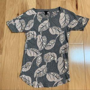 J.Crew Gray Pink Short Sleeve T-shirt